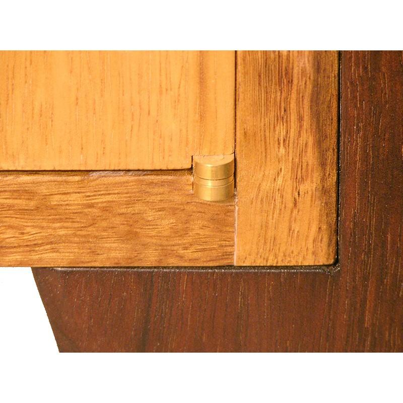 Days of Creation carved bimah brass hinge and corner