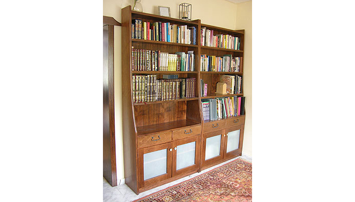 Matching Walnut Bookcases