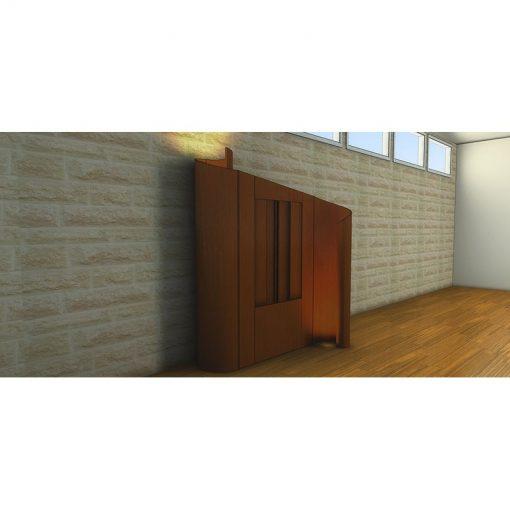 Houston, Texas Chabad contemporary synagogue design aron kodesh with lighting