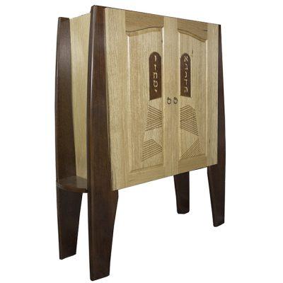 torah ark with torah holders on the sides