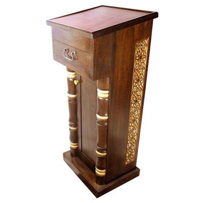 Sephardic amud teffilah carved wood
