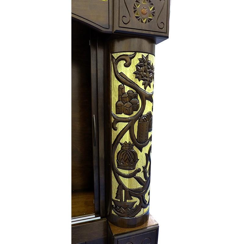 carved synagogue columns for aron kodesh