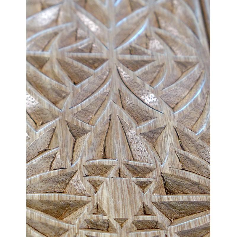 portable hanging aron kodesh for synagogue in Jerusalem carving detail