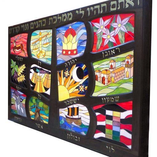 twelve tribes light box with tree of life wood motif