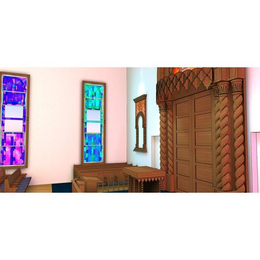 synagogue design for stained glass windows representing the twelve tribes of Israel