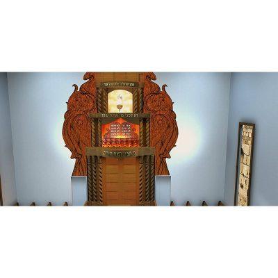 aron kodesh and synagogue design for manhattan shul