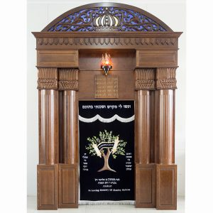 Breslav-Synagogue-Bet-Shemesh-wood-carving-glass-tree-of-life-parochet