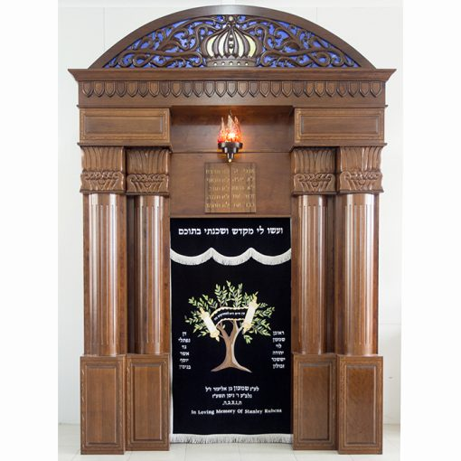 Breslav-Synagogue-Bet-Shemesh-wood-carving-glass-tree-of-life-parochet