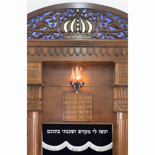 Breslav-Synagogue-Bet-Shemesh-wood-carving-glass-ten-commandments