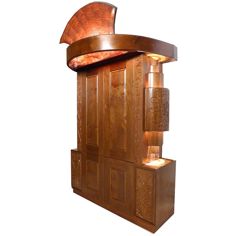 Pillar of Fire Aron Kodesh with lighting