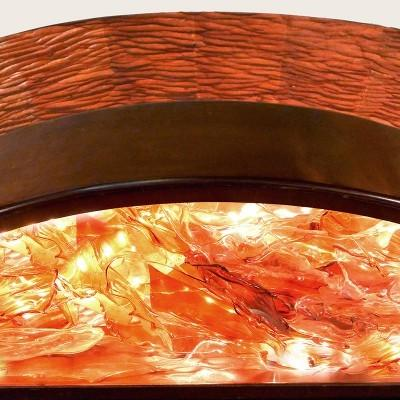 Pillar of Fire Aron Kodesh red glass