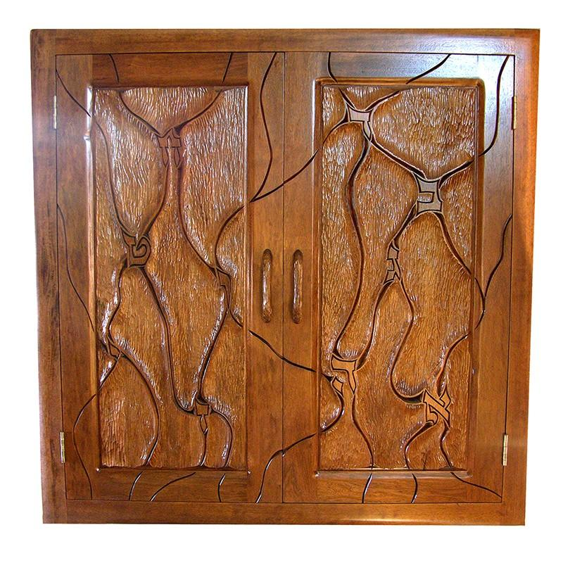 Tulane Hillel Solid wood torah ark with carving