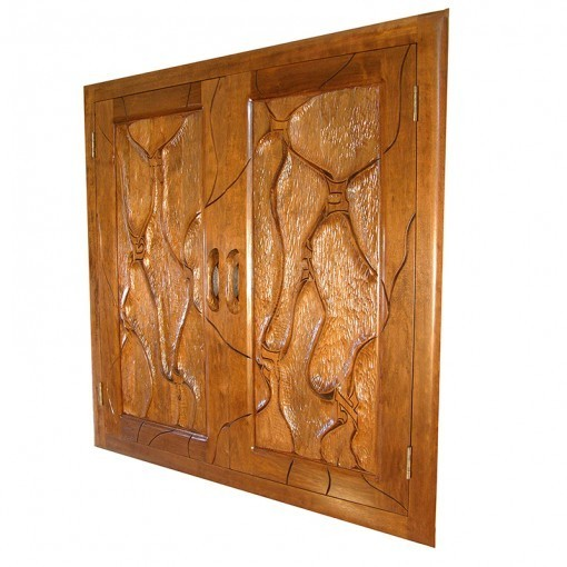 Tulane Hillel Solid wood aron kodesh with carving