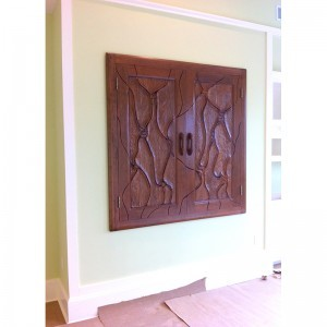 Tulane Hillel built in aron kodesh from solid wood