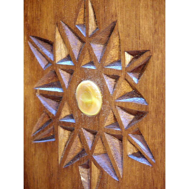 portable torah ark wood twelve tribes detail