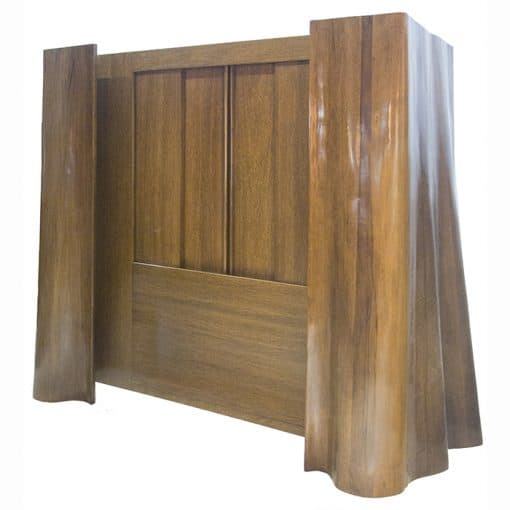 Aron Kodesh carved from wood in drapery