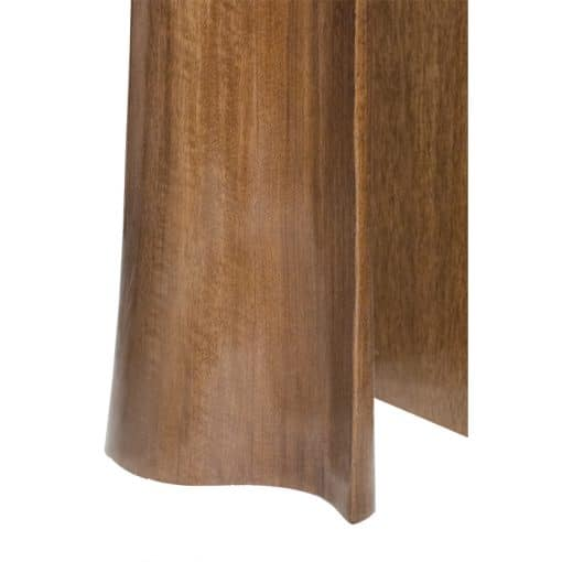 Curved wood carved curtain sculpture
