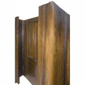 wood carved curtain aron kodesh with sliding doors