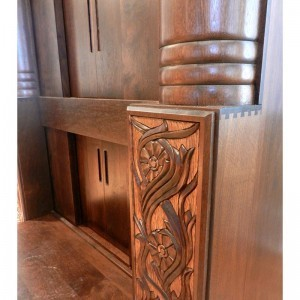 detail carving of bases for aron kodesh in washington DC