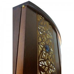twelve tribes curved solid wood door aron kodesh detail of carving and hardware