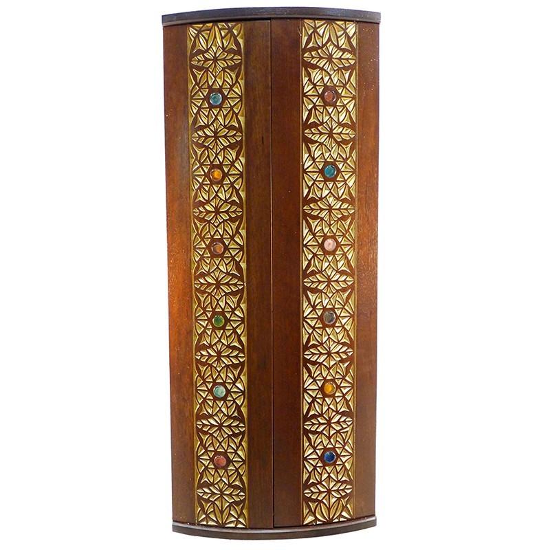 twelve tribes curved solid wood door aron kodesh with glass inlays