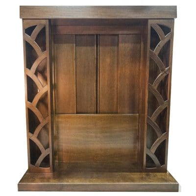 aron kodesh wood sliding doors