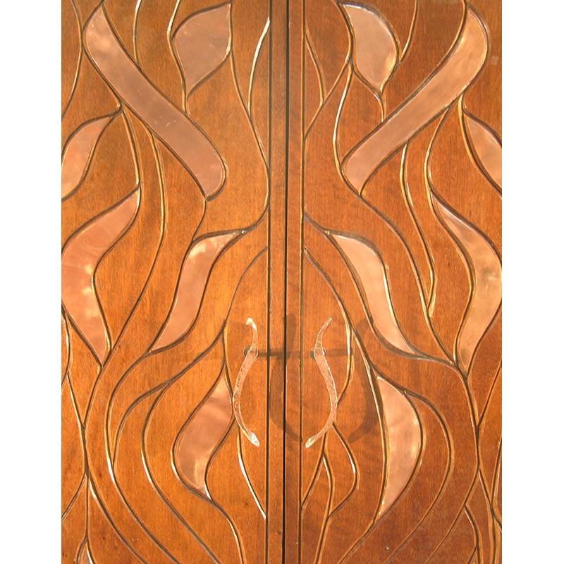 Bet Aleph Meditational Synagogue Torah Ark Wood and Copper doors