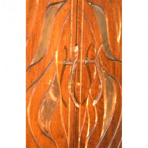 Bet Aleph Meditational Synagogue Torah Ark detail of doors and handles