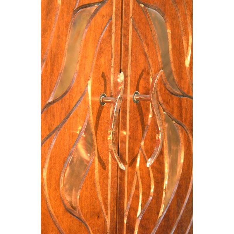 Bet Aleph Meditational Synagogue Torah Ark detail of doors and handles