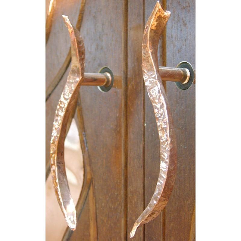 Bet Aleph Meditational Synagogue Torah Ark Copper Handles