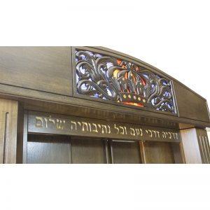 Aron Kodesh for Columbia, South Carolina Chabad carved crown