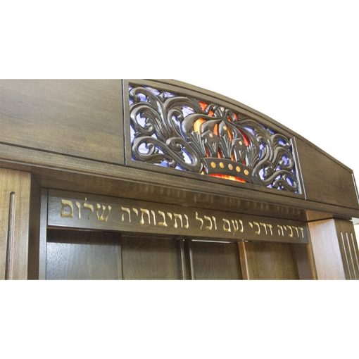 Aron Kodesh for Columbia, South Carolina Chabad carved crown