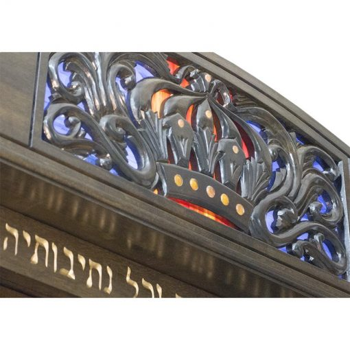 Pasuk and ner tamid crown Aron Kodesh for Columbia, South Carolina Chabad