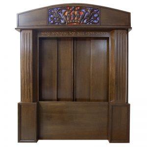Aron Kodesh for Columbia, South Carolina Chabad with sliding wood doors