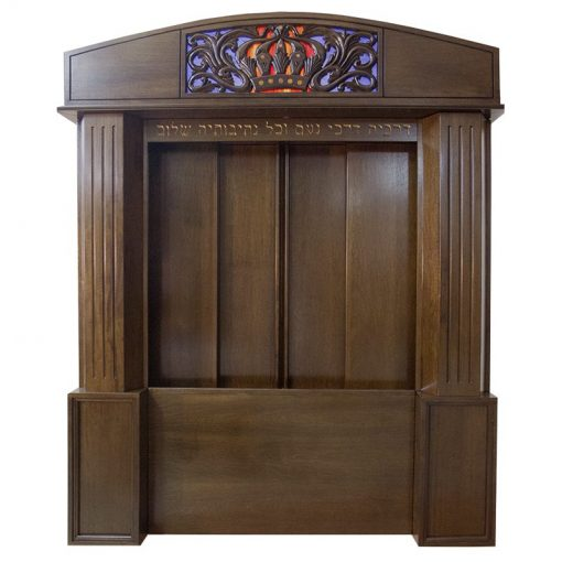 Aron Kodesh for Columbia, South Carolina Chabad with sliding wood doors