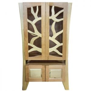 Tree of Life Aron Kodesh from solid walnut and cherry wood
