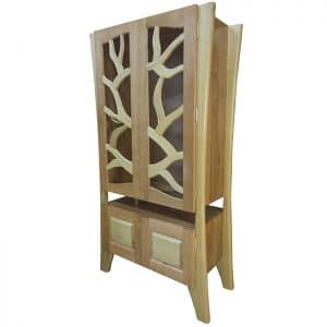 contemporary design Tree of Life Aron Kodesh from solid walnut and cherry wood