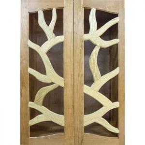 Doors for Tree of Life Aron Kodesh from solid walnut and cherry wood
