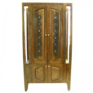 Hanging Mishkan Aron Kodesh with carving and inays