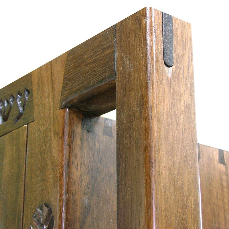 Hanging Mishkan Aron Kodesh wood joinery mortise and tenon