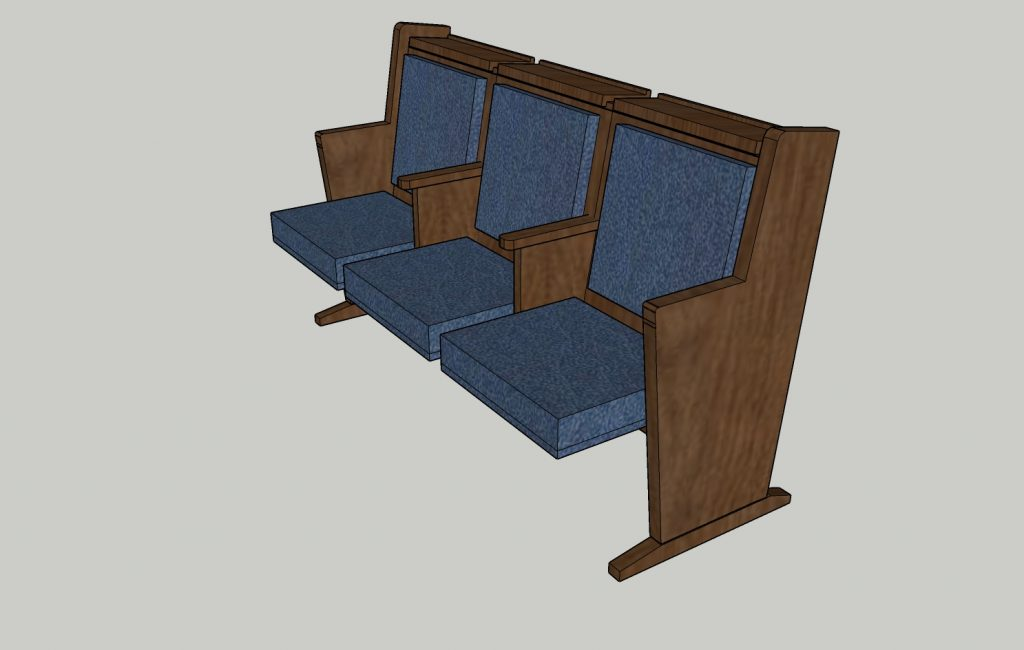 synagogue benches design for or torah
