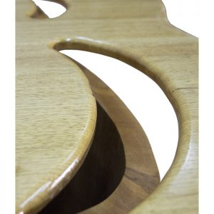 Solid wood torah table with laminate carviing angled top