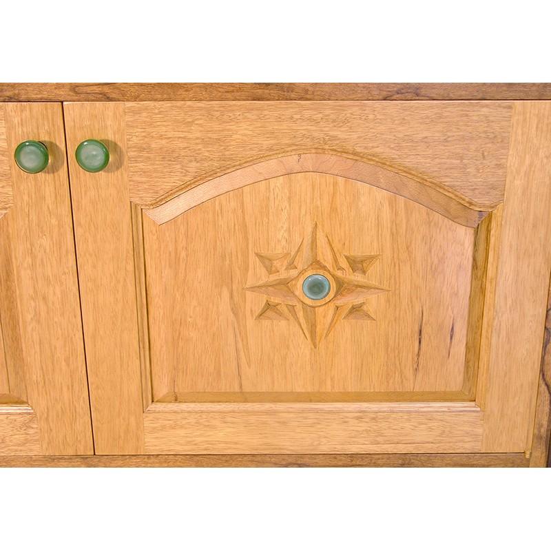 Days of Creation carved bimah doors detail