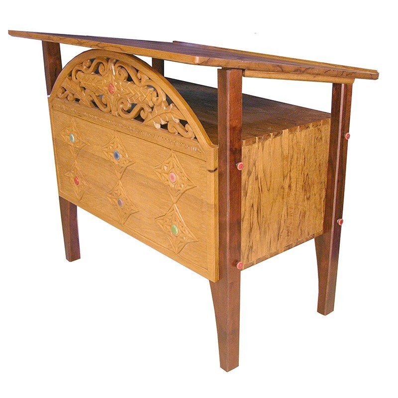 Days of Creation carved bimah