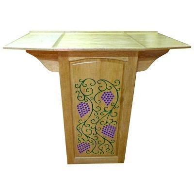 Portable folding torah table podium