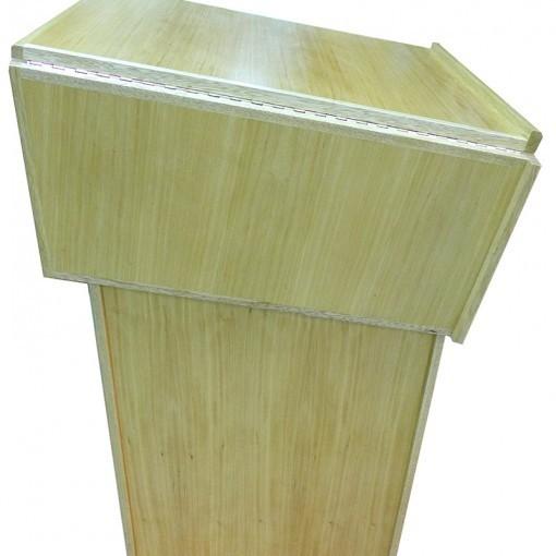 Portable folding torah table podium closed
