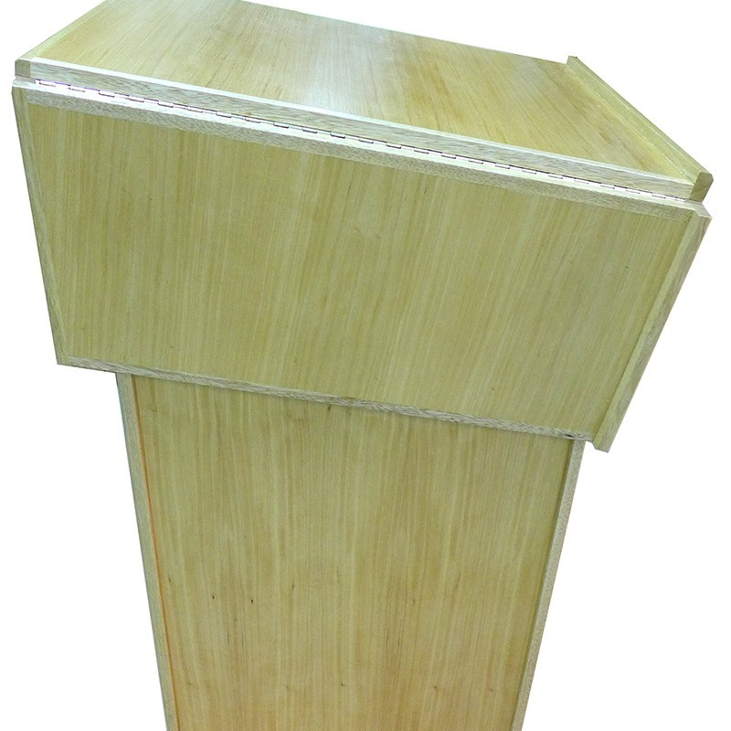 Portable folding torah table podium closed