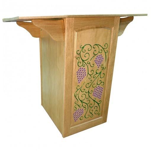 Portable folding torah table podium open