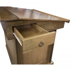bimah with drawer on top