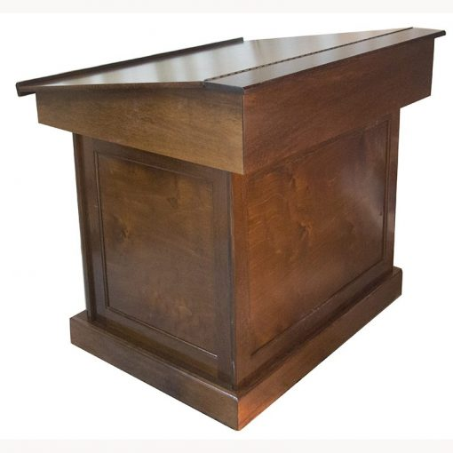 classic wood bimah with panel construction